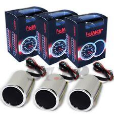 """Jdm Sport 2"""" Inch 2 1/16 52Mm Led Turbo Boost+Oil Pressure+Volt Voltage  Gauge"""