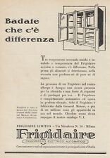 Z5099 Frigoriferi FRIGIDAIRE - Pubblicità d'epoca - 1930 vintage advertising