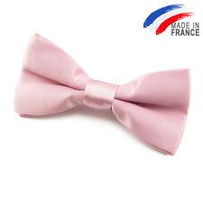 Noeud Papillon satin rose pour Enfant fabriqué en France - Children pink bowtie