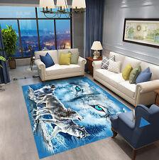 3D Blue Wolf Eye Snow Custom Bathmat Rug WC Bedroom Floor Mat Carpet Animal