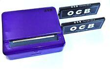 Automatic Rolling Machine Tobacco Case Tin Roller PURPLE 2 OCB Black Booklets
