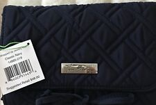 NWT $48 Vera Bradley Travel Jewelry Roll Case Navy Blue