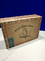 Vintage Rare White Owl Cigar Box With Tax Stamp