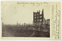 San Francisco CA 1906 After Earthquake Fire Postcard 4th Mission St Pioneer Bldg