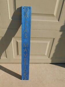 Handmade Blue Dallas Mavericks sign