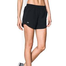 Under Armour UA HeatGear Ladies Fly By Black Sports Training Running Shorts S