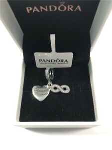 ALE S925 Genuine Silver Pandora Forever Friends Heart Dangle Charm With Gift Box