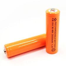 4 AA 3000mAh Ni-MH cellules batterie rechargeable orange pour lecteur CD flash appareil photo