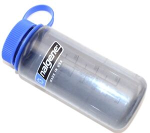 NALGENE Blue Water Bottle - 500 ml / 16 oz, Narrow Mouth, BPA Free, USA - Rare