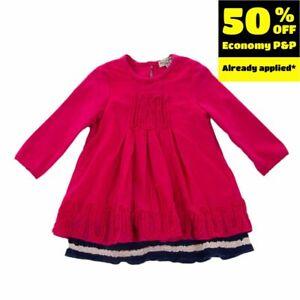ELIANE ET LENA Trapeze Dress Size 12M Double Layer Long Sleeve Round Neck
