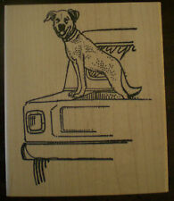 Mounted Rubber Stamps, Canine, Dogs, Dog Stamps, Animals, Pets, Pickup Truck Dog
