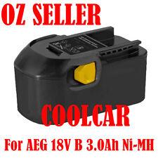 Battery For AEG 18V 3.0Ah Ni-MH L1830R B1820R B1830R M1830R 4932399487 BBM 18STX