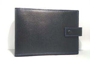 Lanvin Paris Navy Blue Leather Photo Frame
