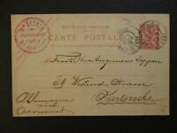 1903 Paris France to Karlsruhe Germany Postal Stationary Postcard Cover