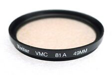 49mm VIVITAR (TIFFEN) VMC 81A Warming Filter - MULTI COATED - NEW