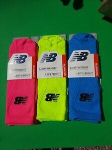 3 Prs New Balance Running Socks  Lightweight Anatomical Fit MEDIUM Men's/Women's