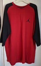 New Men's Size 2Xl Xxl Air Jordan Jumpman 23 True 3/4 Raglan Retro 802279-687