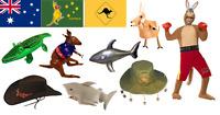 Australian Fancy Dress Accessories Decoration Prop Flag Australia Day Oz Aussie