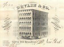 Billhead, Devlin & Co, 459 & 461 Broadway, Corner of Grand St, New York NY 1865