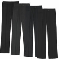 Ladies Plus Size Straight Leg Work Trousers (Sizes 16-26) Formal Office Pants