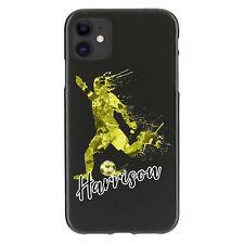Caso De Teléfono Personalizado Para iPhone 11/12/XR, cubierta de TPU de fútbol amarillo inicial