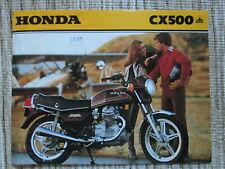 1979 Honda CX500 Brochure