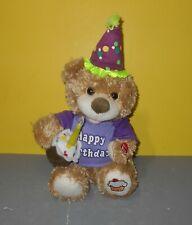 "Chantilly Lane CupCake Birthday Bear Sings ""Happy Birthday"" Light-Up Candle"