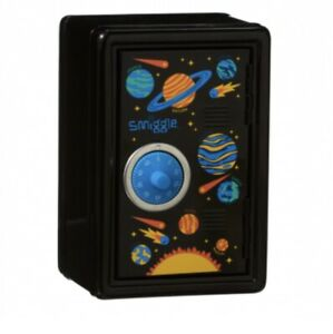 Smiggle Nutty Black Money Box Safe - Planets, Solar System, Outer Space
