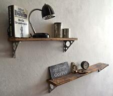 Wandregal Loft Vintage Eiche massiv Wandboard IndustrieDesign Holz Edelstahl