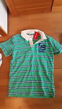 NEU Polo Shirt Lemmi 170 176  L Poloshirt grün blau gestreift Vintage NP 36 EUR