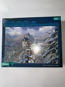 Buffalo Games Winter at Neuschwanstein Castle 2000 Piece Puzzle Sealed