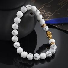 Men's Bracelet Gold Buddha Elastic Beaded Bracelet Tibet Charm Lucky bracelets