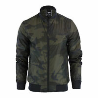 Mens Jacket Brave Soul Entwistle Camo Military MA1 Harrington Bomber Coat