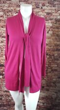 Per Se Pink Long Sleeve Open Front Cardigan Sweater Size M