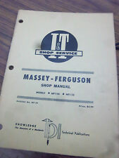 Massey Ferguson TRACTOR~MF1100~MF1130~SHOP SERVICE~REPAIR Manual~MF 1100 I&T