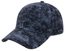 Tactical Camo Cap Midnight Dark Blue Digital Camouflage Ballcap Rothco 86120