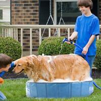 1*Foldable Pet Bath Pool Collapsible Dog Pool Pet Bathing Tub For Dog Cat AU HOT