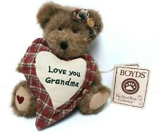 "New ListingBoyds 8"" Plush Jointed Grammy Bear ""Love You Grandma"" #903034 ~ Grandmother Gift"