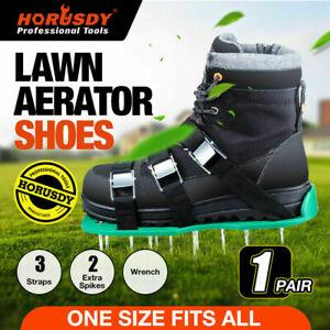 Lawn Grass Aerator Spiked Shoes Garden Care Triple Bulk Strap Adjustable Sandal