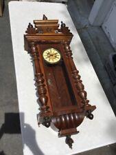Antique Genuine Gustav Becker Vienna Regulator Wall Clock with Ornate Wood Case