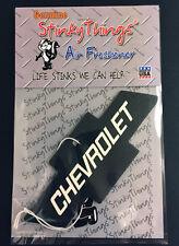 BLACK CHEVY BOWTIE AIR FRESHENER * BLACK ICE car chevrolet emblem rat rod 60 70