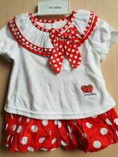 Beautiful Baby Girl Red and White Polka Dot Shorts and Top Set / Outfit.