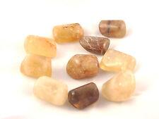 Rare Natural Citrine Lg Tumbled Stone Crystal Reiki Healing Chakra Balance