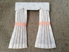 Pretty 1/12 Scale Dolls House curtains - pretty peach floral
