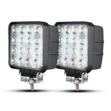 2X 48W LED Flood Light Bar Work Lamp Pods Fog Truck Driving Offroad ATV 4X4 SUV