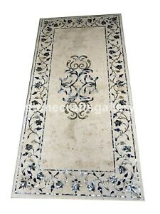 8'x4' Italian Marble Top Designer Table Mother of Pearl Floral Inlay Decors B101