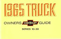 OEM Maintenance Owner's Manual Bound for Chevy Truck 10-30 Series 1965