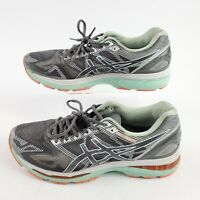 Asics Gel Nimbus 19 Running Shoes T750N Womens Size 12 Silver Turquoise Lace Up