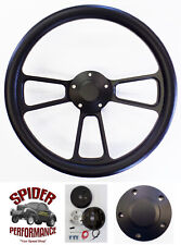 "1988-1994 Suburban Blazer Chevy CK pickup steering wheel 14"" BLACK BILLET"