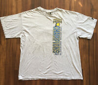 VTG 90s NBA T-Shirt Indiana Pacers Mens XL 2000 Playoffs Basketball Streetwear